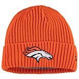 Youth New Era Orange Denver Broncos Core Classic Cuffed Knit Hat