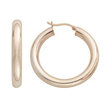 18k Gold-Over-Silver Hoop Earrings