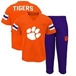 Preschool Orange/Purple Clemson Tigers Training Camp T-Shirt and Pants Set