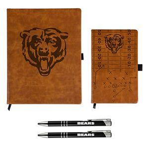 Sparo Chicago Bears Laser-Engraved Notepad & Pen Gift Set