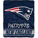 "The Northwest New England Patriots 50"" x 60"" Stabilize Raschel Plush Throw Blanket"