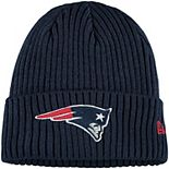 Youth New Era Navy New England Patriots Core Classic Cuffed Knit Hat