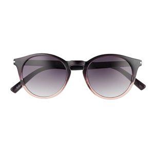 Women's LC Lauren Conrad 49mm Jaded Gradient Round Sunglasses