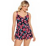 Women's Croft & Barrow® Tummy Slimming V Neck Swimdress