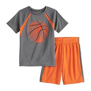 Boys 4-12 Jumping Beans® Basketball Pieced Raglan Active Tee & Shorts Set