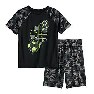 Boys 4-12 Jumping Beans® Sports Abstract Raglan Active Tee & Shorts Set