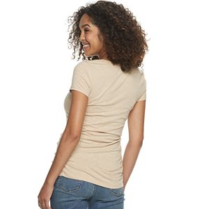 Maternity a:glow Shirred-Side Graphic Tee