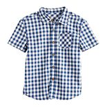 Boys 4-12 SONOMA Goods for Life® Checkered Plaid Button Front Shirt in Regular, Slim & Husky