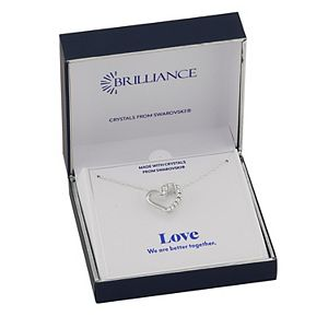 Brilliance Heart Pendant Necklace with Swarovski Crystal