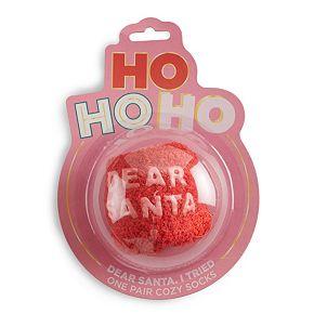 "Simple Pleasures ""Dear Santa, I Tried"" Cozy Sock Gift Set"