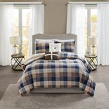 Madison Park 5-piece Buffalo Check Comforter Set