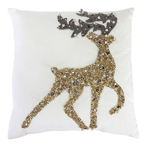 Jordan Manufacturing Beaded Home Decor Throw Pillow by Jordan Manufacturing