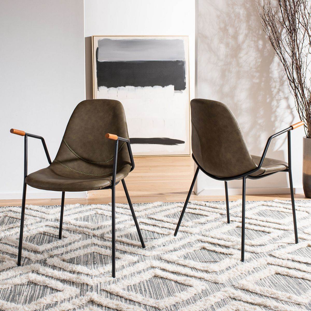 Safavieh Tanner Mid-Century Dining Chair 2-Piece Set 26Tm9