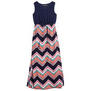 Girls 7-16 Three Pink Hearts Tank Cameo Maxi Dress