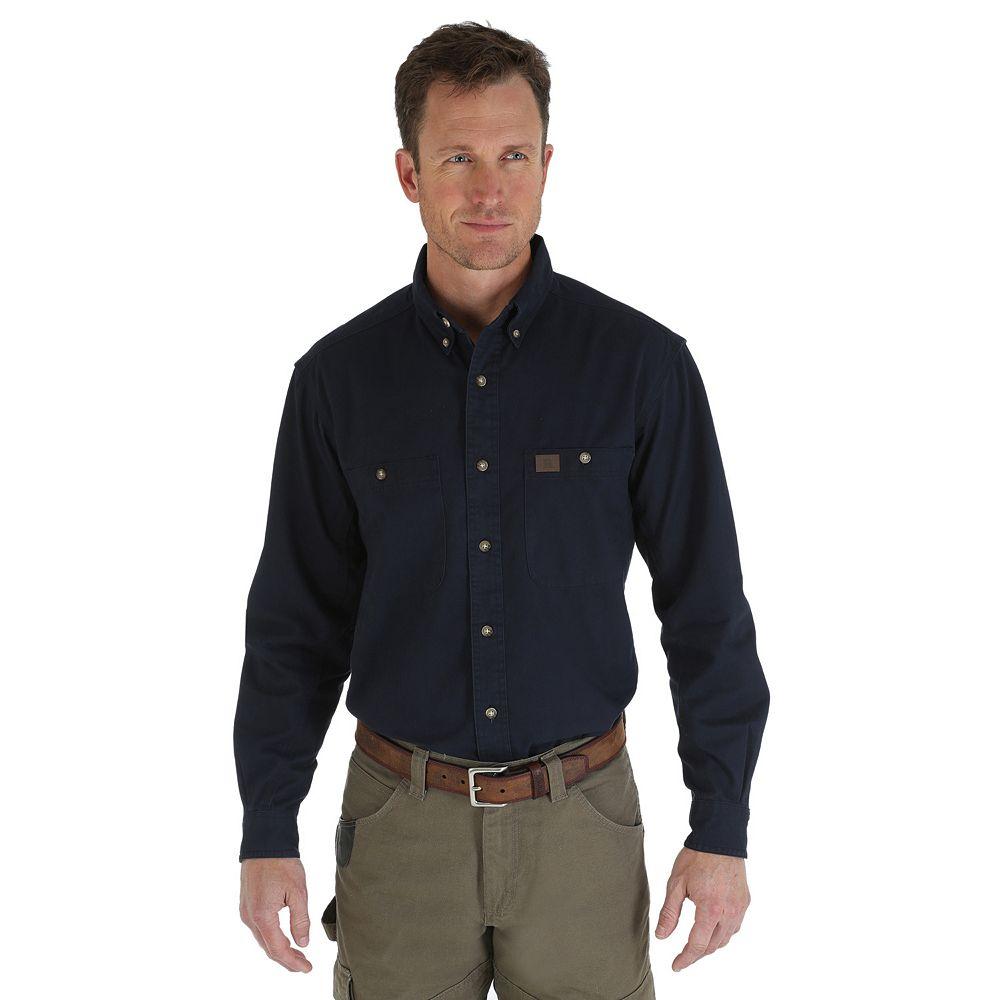 Men's Wrangler RIGGS Workwear Twill Button-Down Shirt