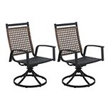 Sonoma Goods For Life® Ridgecrest Farmhouse Metal Swivel Chair Set of 2