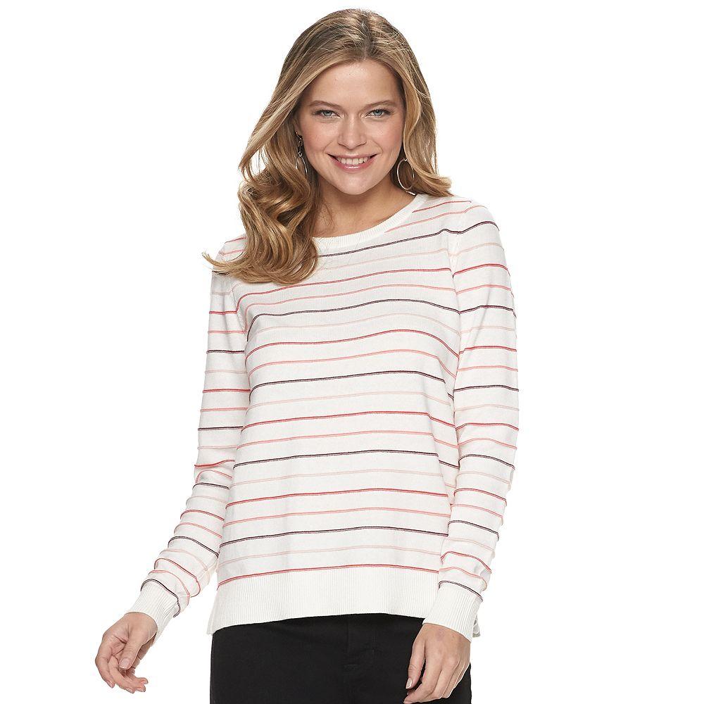 Women's Apt. 9® Long Sleeve Crewneck Valentine's Pullover