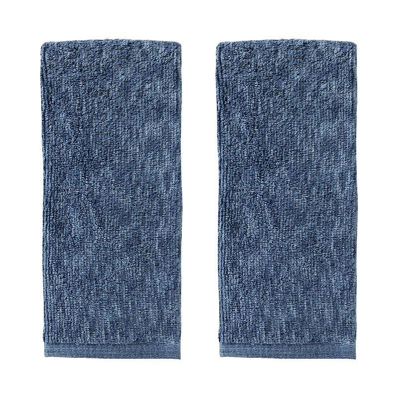 Vern Yip by SKL Home Shibori Stripe 2 piece Hand Towel Set, Blue, 2 Pc Set