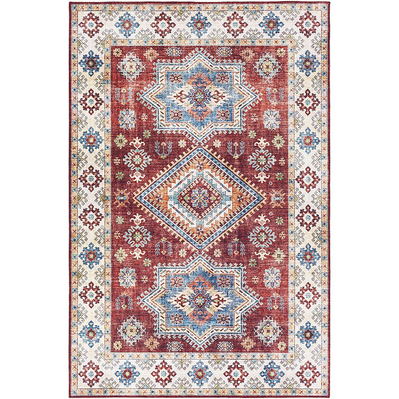 Decor 140 Mjoll Border Rug, Red, 2X4 Ft