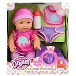 "Dream Collection 12"" Baby Doll with Musical Potty - Pink"
