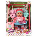 "Dream Collection 12"" Baby Doll 4-In-1 High Chair Play Set"