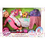 "Dream Collection 12"" Baby Doll Care Gift Set with Stroller"