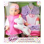 "Dream Collection 16"" Lovely Baby Doll with Unicorn"