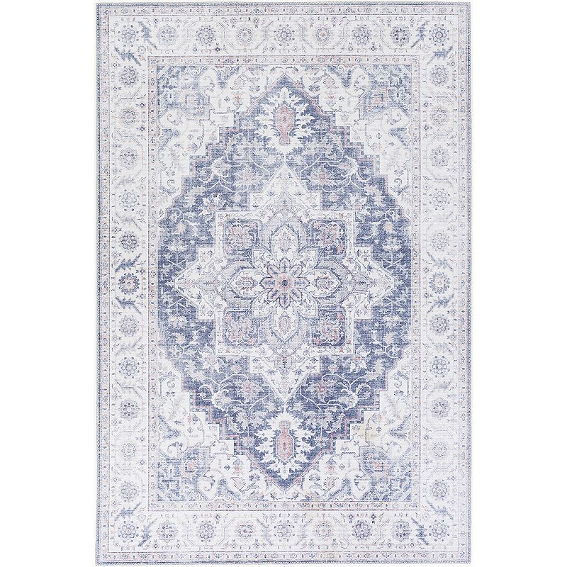 Decor 140 Sylvana Border Rug, Blue, 2X4 Ft