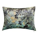 Edie@Home Printed Gold Leaf Decorative Pillow