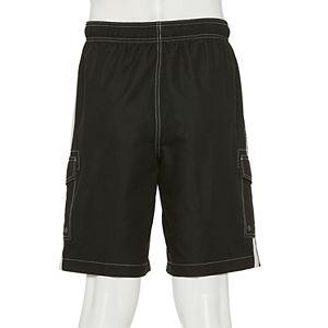 Men's Croft & Barrow® Side-Stripe Swim Trunks