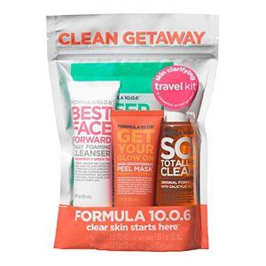 FORMULA 10.0.6. Clean Getaway Skin Clarifying Travel Kit