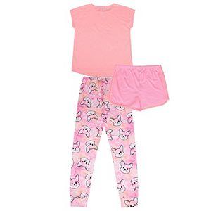 Girls 4-12 Jelli Fish 3-piece Pajama Set