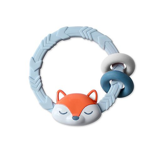 Baby Boy Itzy Ritzy Blue Silicone Teether Rattle (with Fox ...