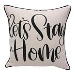 "HFI ""Let's Stay Home"" Print Pillow"