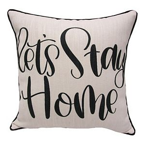 """HFI """"Let's Stay Home"""" Print Pillow"""