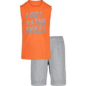 Boys 4-7 Under Armour I Got Skills Muscle Tee & Shorts Set