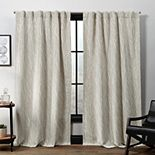 Exclusive Home 2-pack Forest Hill Woven Blackout Hidden Tab Top Window Curtains
