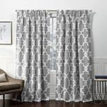 Exclusive Home 2-pack Ironwork Sateen Woven Blackout Pinch Pleat Window Curtains