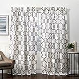 Exclusive Home 2-pack Kochi Linen Blend Pinch Pleat Window Curtains