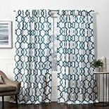 Exclusive Home 2-pack Kochi Linen Blend Pinch Pleat Window Curtains