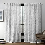 Exclusive Home 2-pack Oakdale Sheer Textured Linen Hidden Tab Top Window Curtains