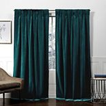 Exclusive Home 2-pack Velvet Heavyweight Hidden Tab Top Window Curtains