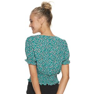 Juniors' Candie's® Button Up Top