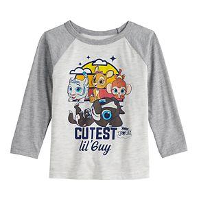 """Disney's T.O.T.S Toddler Boy """"Cutest Lil' Guy"""" Raglan Tee"""