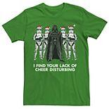 Men's Star Wars Vader Trooper Lack Cheer Christmas Tee