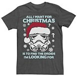 Men's Star Wars Storm Trooper Droids Christmas Tee