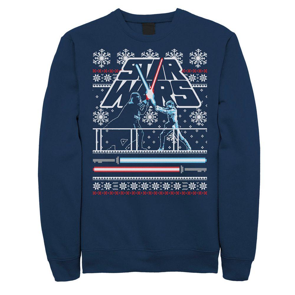 Men's Star Wars Luke Vader Face Off Ugly Christmas Sweater Sweatshirt