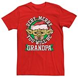 Men's Star Wars Yoda Merry You Will Be Christmas Tee