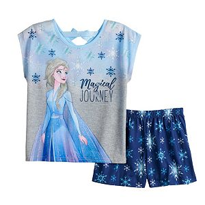 Disney's Frozen 2 Elsa Girls 4-8 Top and Shorts Pajama Set