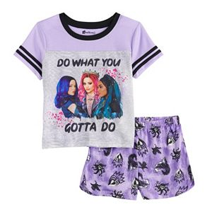 Disney's Descendants Girls 6-14 Top & Shorts Pajama Set